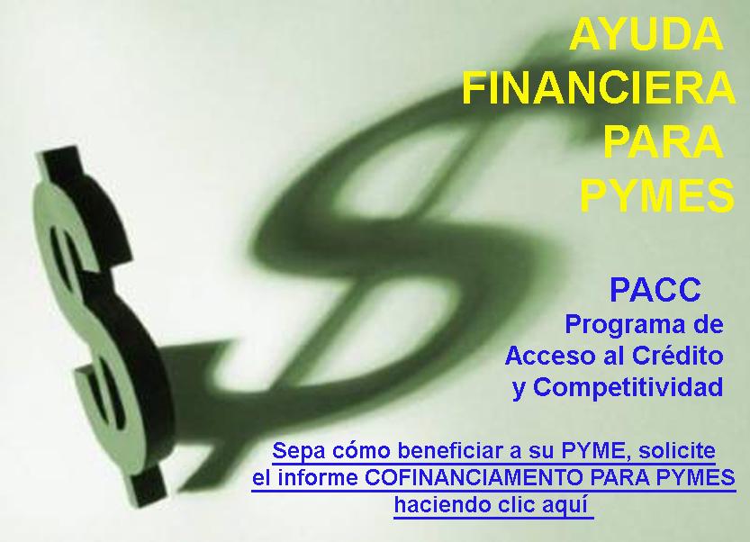 Ayuda financiera para pymes PACC