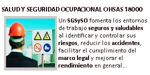 Gestión de Salud y Seguridad Ocupacional - OHSAS 18000
